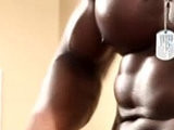 black, muscular, wanked